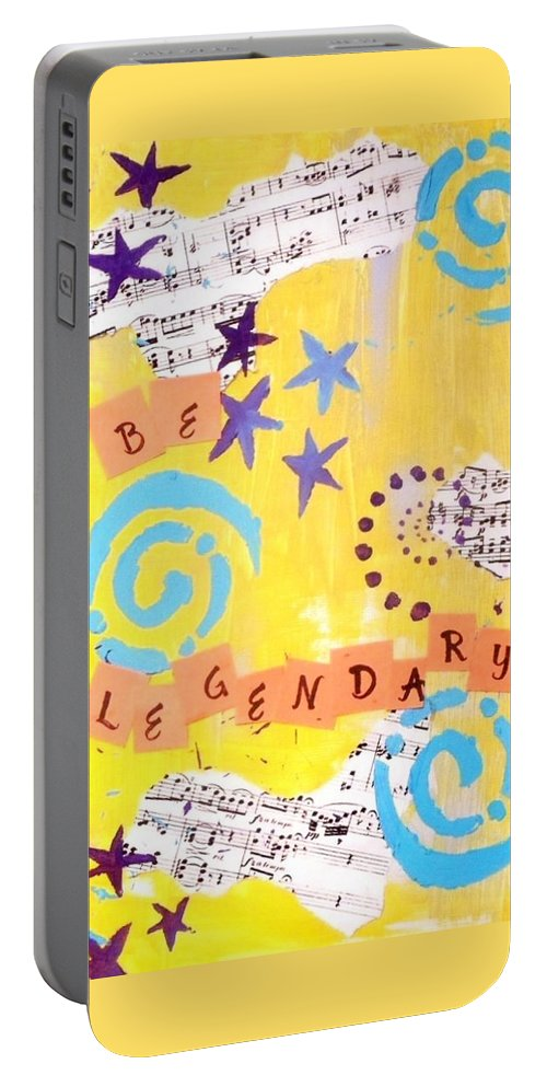 Be Lengendary Portable Battery Charger featuring the painting Be Legendary #2 by Vallee Rose