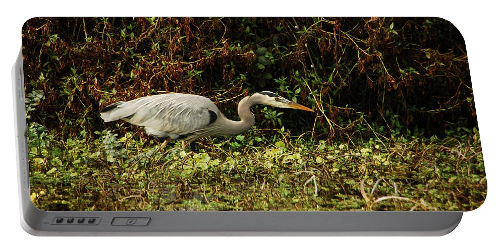 Heron Portable Battery Charger featuring the photograph Be Wery Wery Quiet by Donna Blackhall