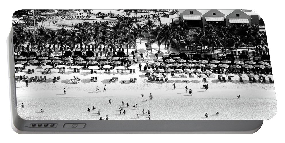 Grand Turk Portable Battery Charger featuring the photograph Beach At Grand Turk by Timothy Wildey