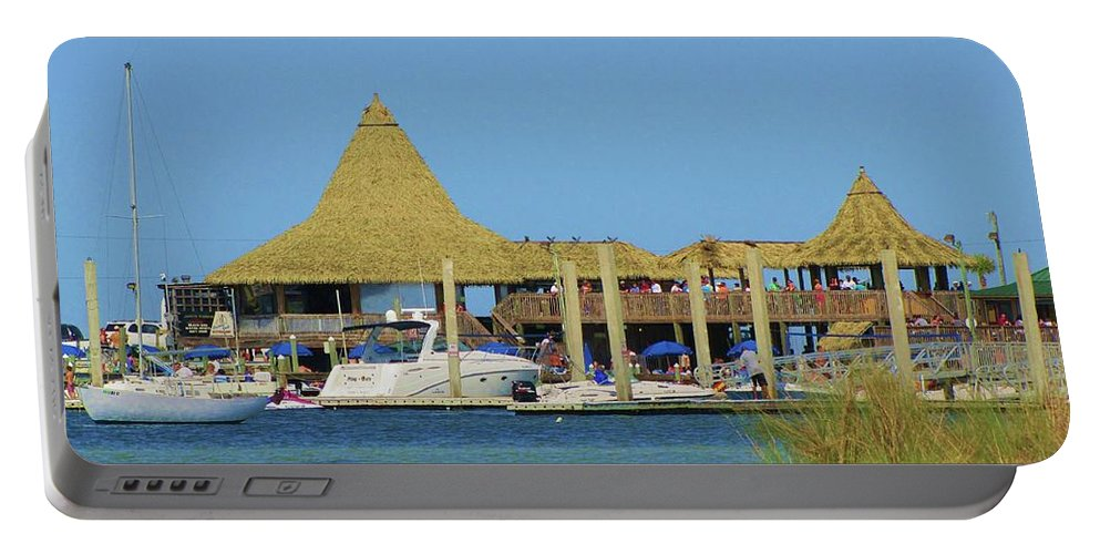 Beach Portable Battery Charger featuring the photograph Beach Bar by Michelle Powell