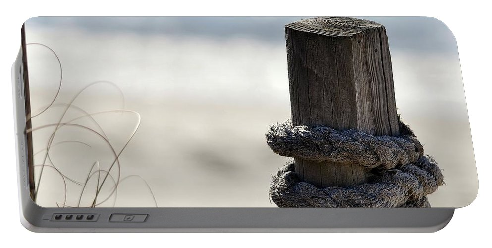 Beach Portable Battery Charger featuring the photograph Beach Barrier by Al Powell Photography USA