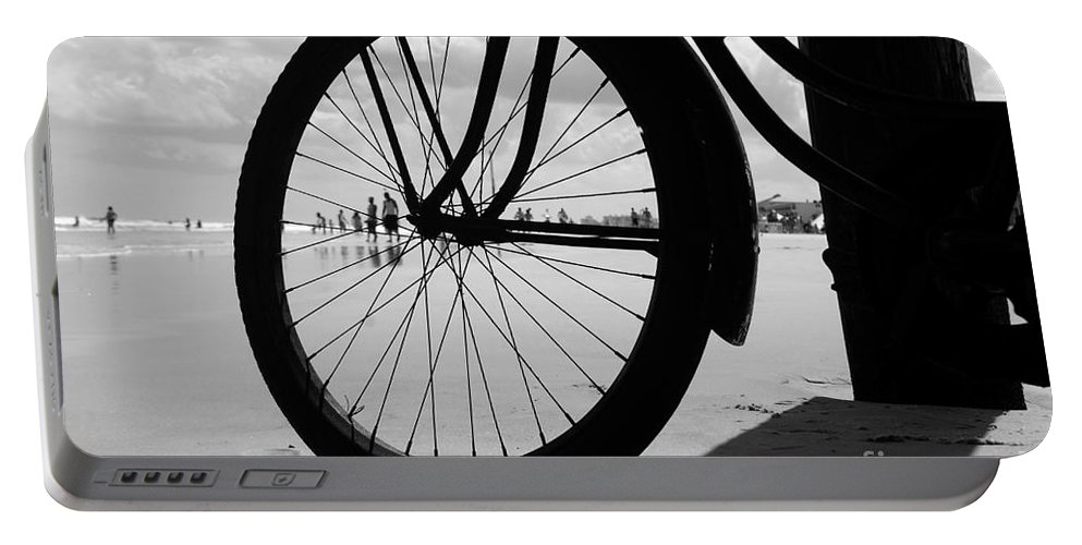 Beach Portable Battery Charger featuring the photograph Beach Bicycle by David Lee Thompson