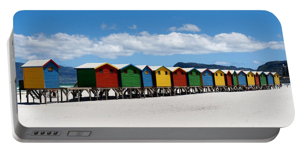 Beach Portable Battery Charger featuring the photograph Beach Cabins by Fabrizio Troiani