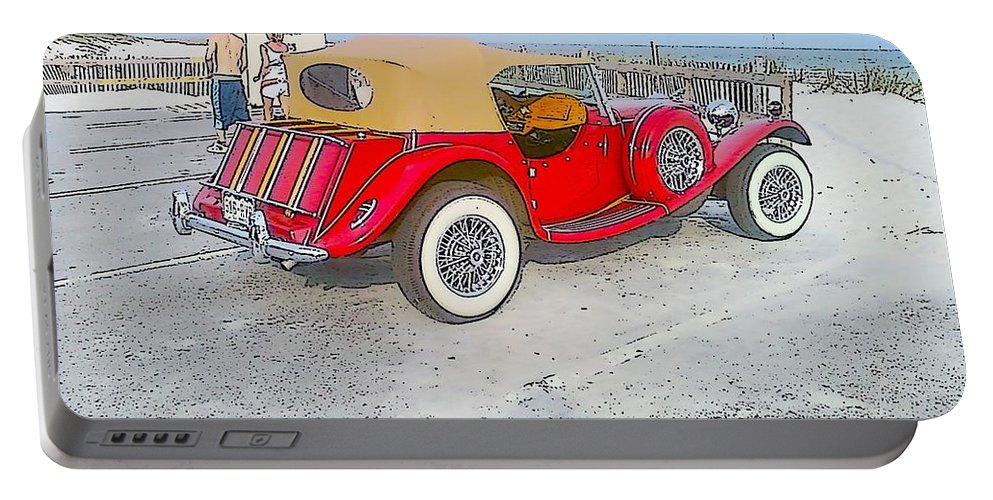 Beach Portable Battery Charger featuring the photograph Beach Car by Michelle Powell
