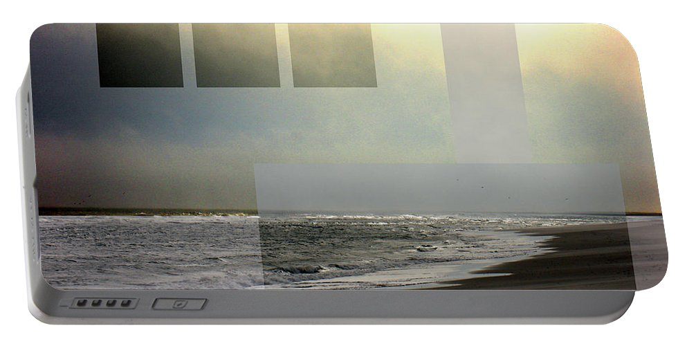 Beach Portable Battery Charger featuring the photograph Beach Collage 2 by Steve Karol