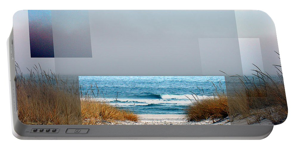 Beach Portable Battery Charger featuring the photograph Beach Collage by Steve Karol