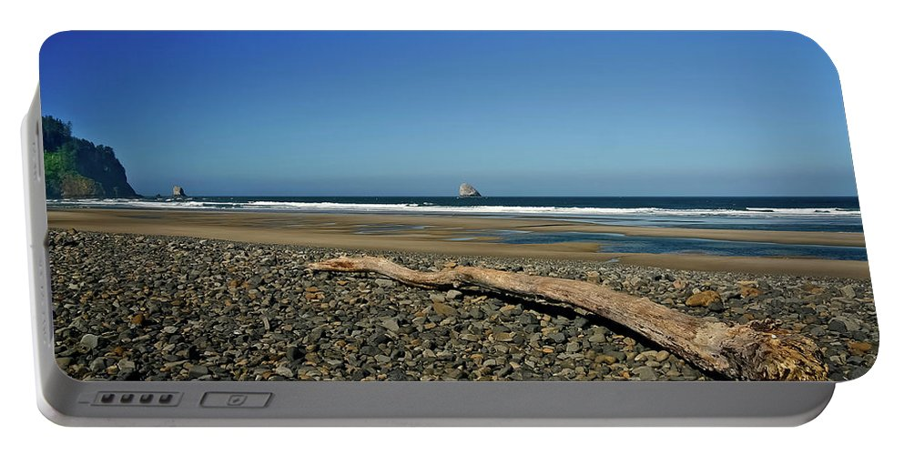 Driftwood Portable Battery Charger featuring the photograph Beach Driftwood by Albert Seger