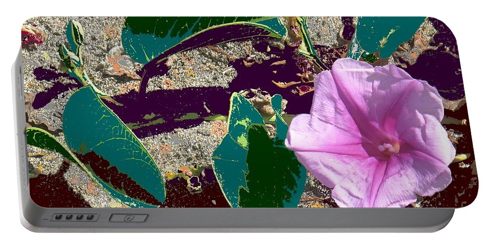 Beach Portable Battery Charger featuring the photograph Beach Flower by Ian MacDonald