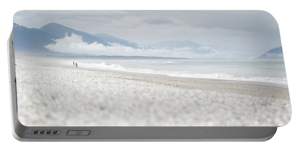 Beach Portable Battery Charger featuring the photograph Beach For Two by Alex Conu
