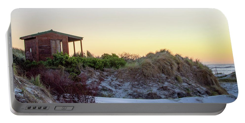 Beach Portable Battery Charger featuring the photograph Beach House by Kyle Goetsch