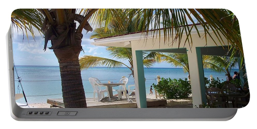 Beach Portable Battery Charger featuring the photograph Beach In Grand Turk by Debbi Granruth