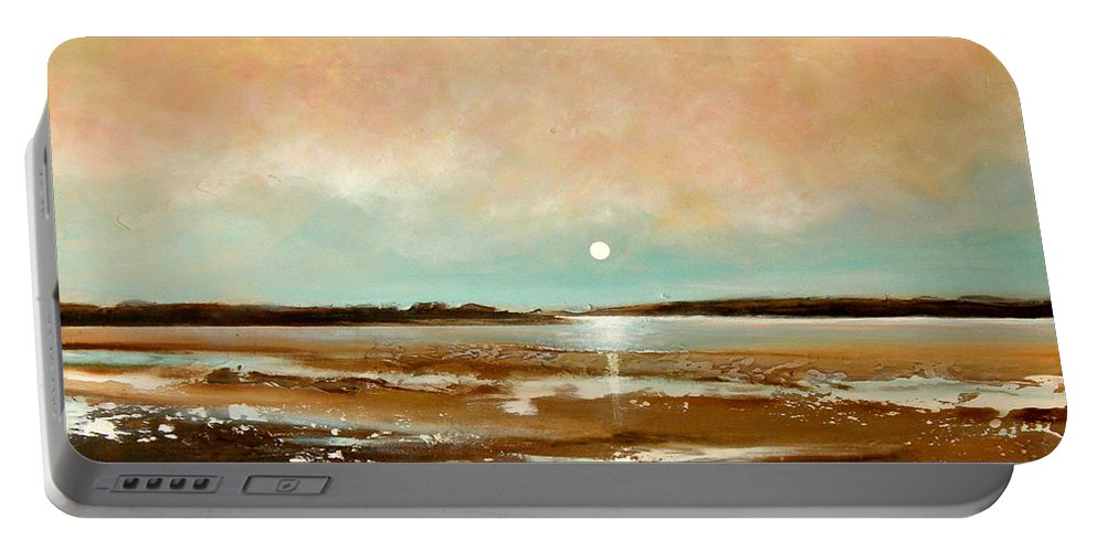 Beach Portable Battery Charger featuring the painting Beach Reflections by Toni Grote