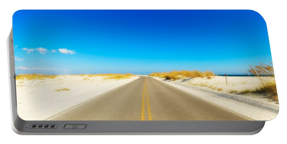 Florida Portable Battery Charger featuring the photograph Beach Road by Raul Rodriguez