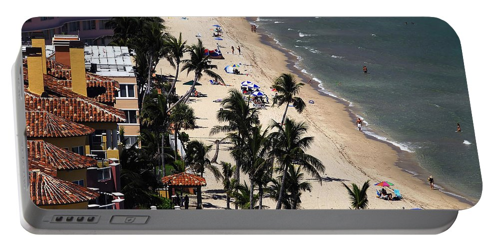 Beach Portable Battery Charger featuring the photograph Beach Scene by David Lee Thompson