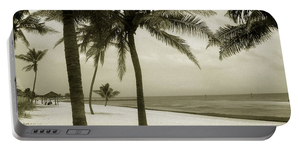 Beach Photo Portable Battery Charger featuring the photograph Beach Scene In Key West by Susanne Van Hulst
