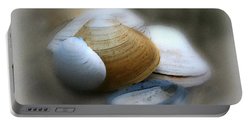 Nature Portable Battery Charger featuring the photograph Beach Shells by Linda Sannuti