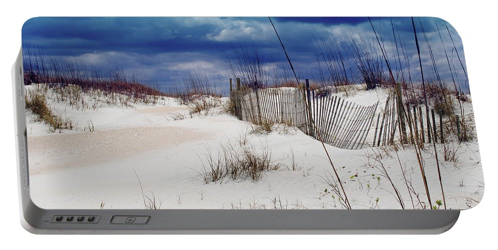 Beach Portable Battery Charger featuring the photograph Beach Storm by Jost Houk
