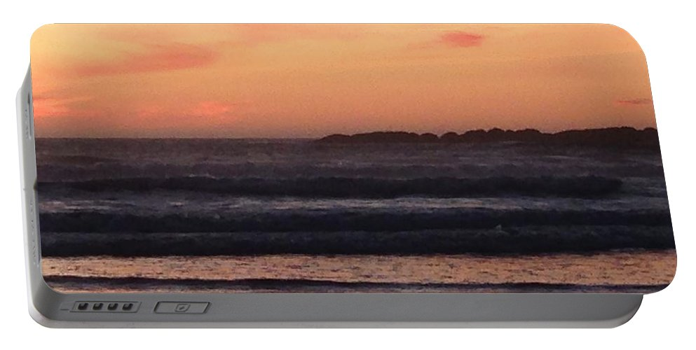 Sunset Portable Battery Charger featuring the photograph Beach sunset by Shari Chavira