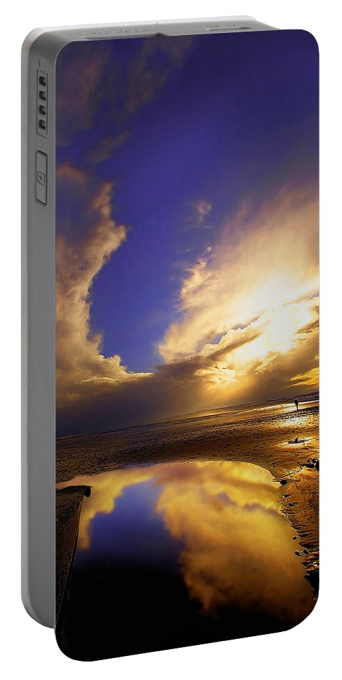 Beach Portable Battery Charger featuring the photograph Beach Sunset by Svetlana Sewell