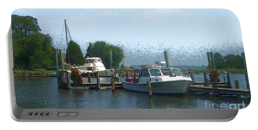 Boat Portable Battery Charger featuring the photograph Beached Buoys by Debbi Granruth