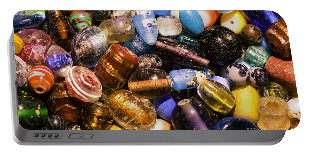 Bead Portable Battery Charger featuring the photograph Bead Pile by Joe Geraci