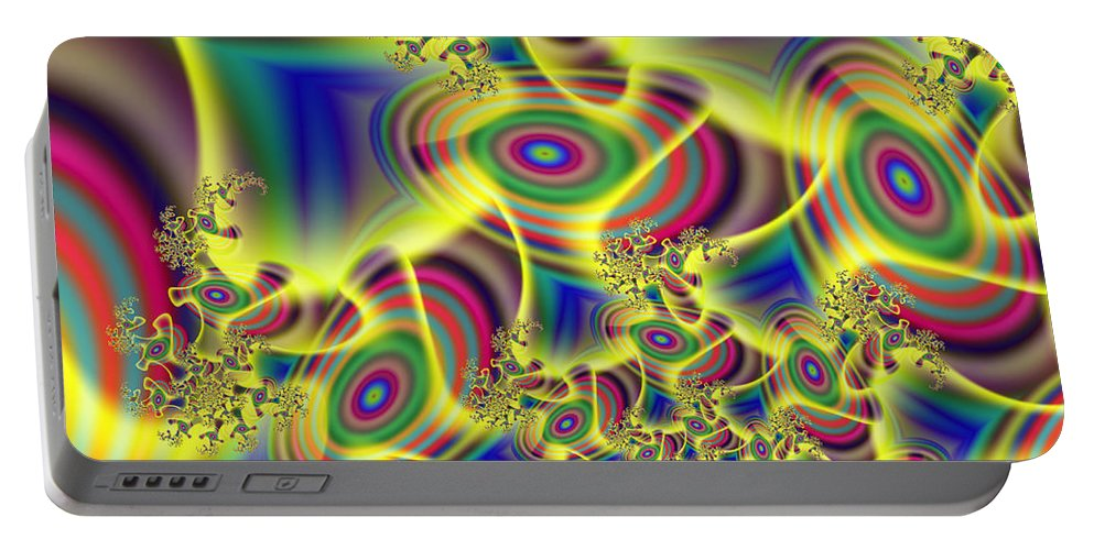 Art Portable Battery Charger featuring the digital art Beaming by Candice Danielle Hughes