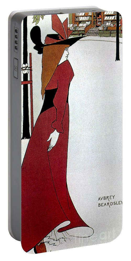 1895 Portable Battery Charger featuring the photograph Beardsley: Poster Design by Granger