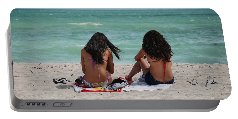 Women Portable Battery Charger featuring the photograph Beauties On The Beach by Rob Hans