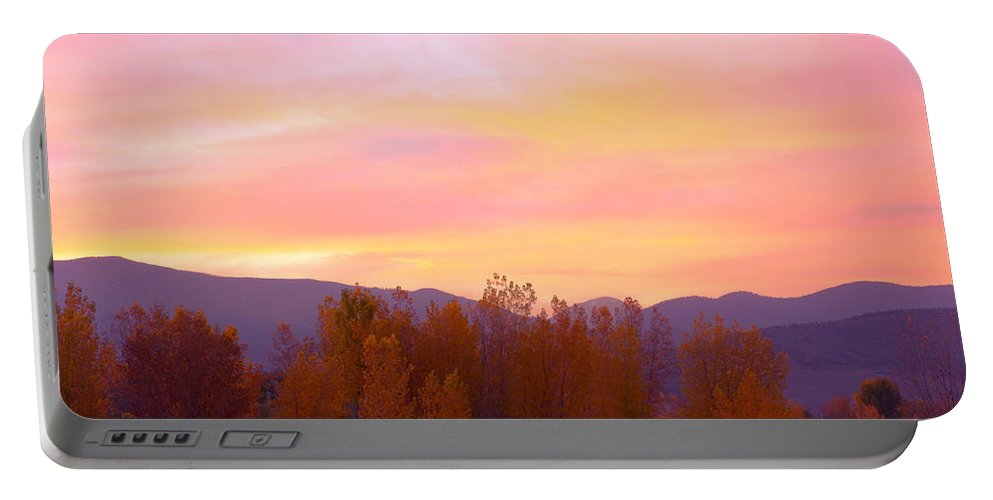 Sunsets Portable Battery Charger featuring the photograph Beautiful Autumn Sunset by James BO Insogna