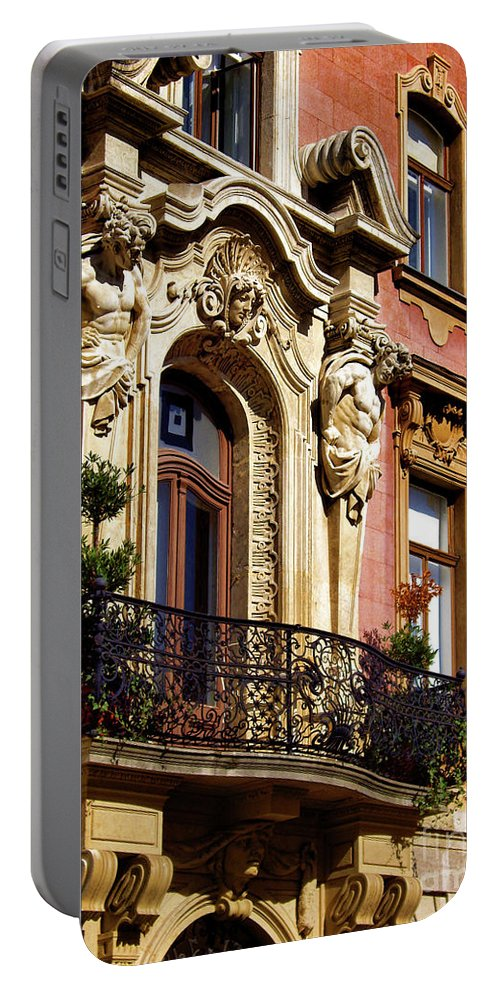 Beautiful Balcony In Austria Portable Battery Charger featuring the photograph Beautiful Balcony In Austria by Mariola Bitner