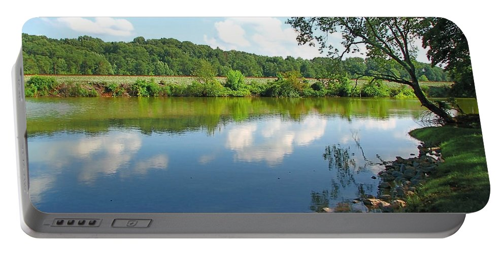 Landscape Portable Battery Charger featuring the photograph Beautiful Blue Water by Todd Blanchard