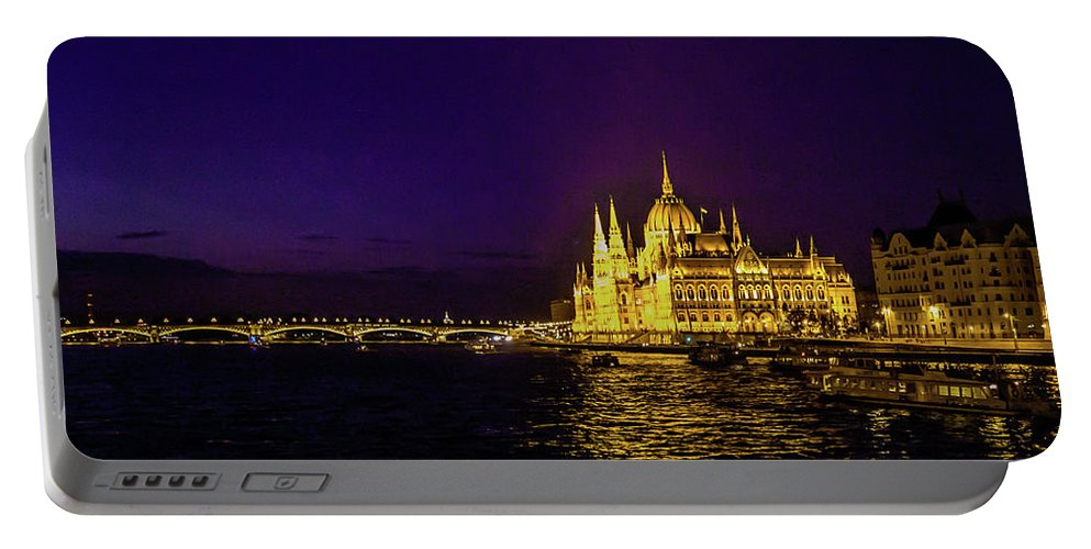 Budapest Portable Battery Charger featuring the photograph Beautiful Budapest Parliament by Lisa Lemmons-Powers