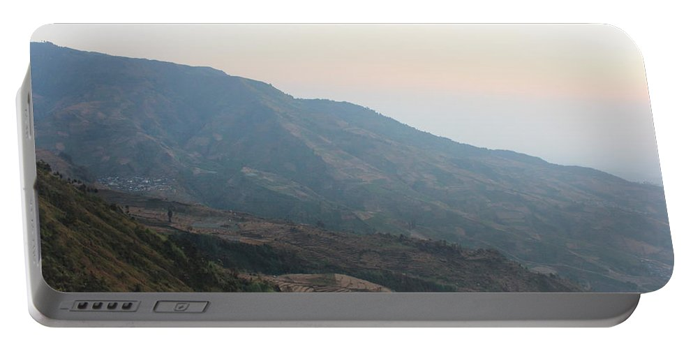 Mountain Portable Battery Charger featuring the photograph Beautiful Mountain by Oktommy Putra