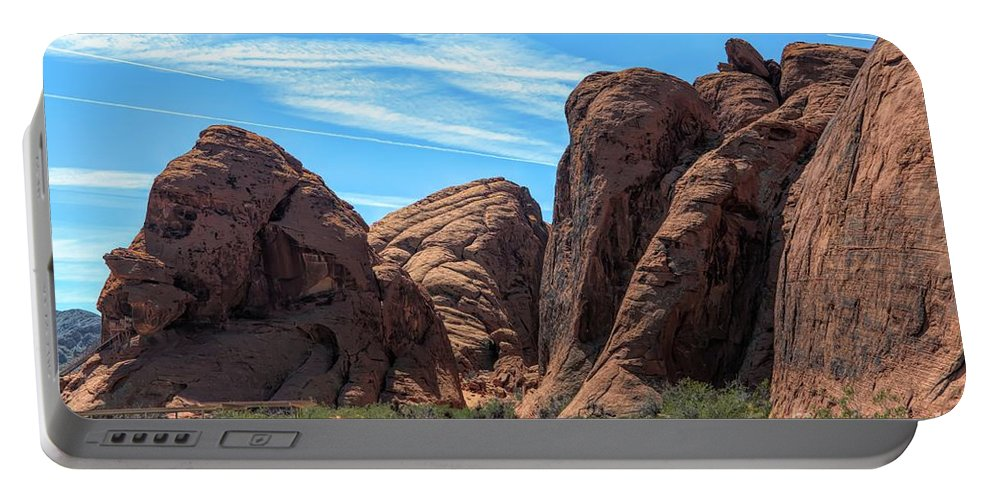 Valley Of Fire Portable Battery Charger featuring the photograph Beautiful Nature Landscape Valley Of Fire by Chuck Kuhn