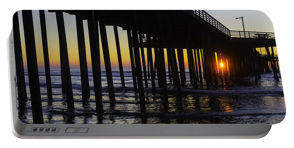 Pismo Beach Portable Battery Charger featuring the photograph Beautiful Pismo Beach Sunset by Garry Gay