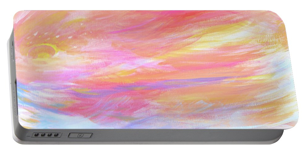 Abstract Painting Portable Battery Charger featuring the painting Beautiful Possibilities - Contemporary Art by Robyn King