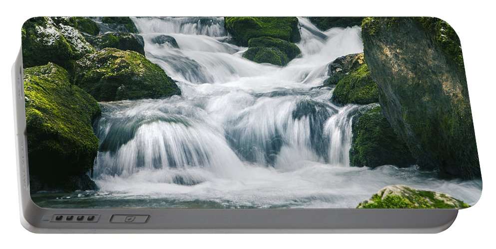Amazing Portable Battery Charger featuring the photograph Beautiful River In Forest by Sandra Rugina