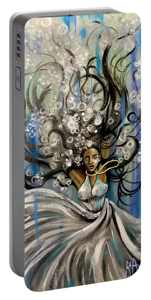 Artist_ria Portable Battery Charger featuring the painting Beautiful Struggle by Artist RiA