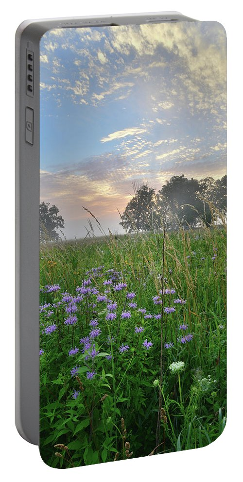 Black Eyed Susan Portable Battery Charger featuring the photograph Beautiful Sunrise In Glacial Park by Ray Mathis