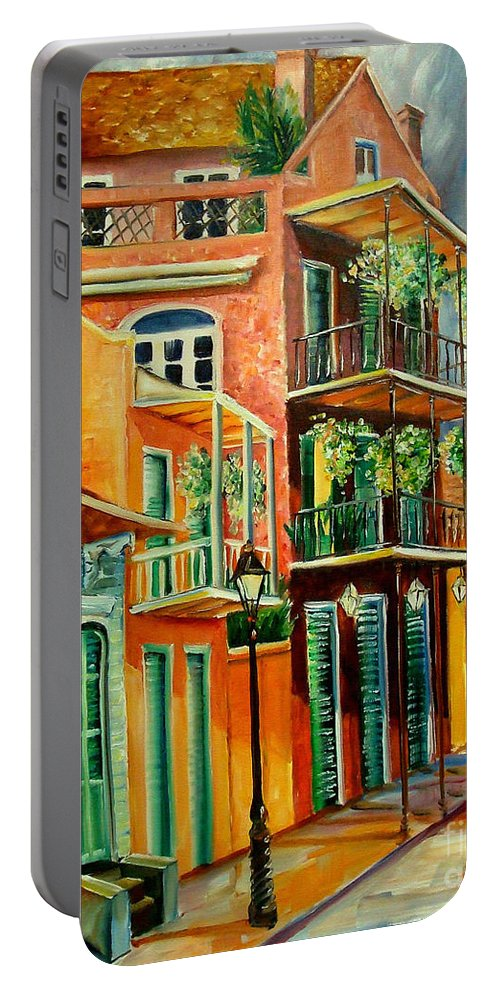 New Orleans Portable Battery Charger featuring the painting Beautiful Vieux Carre by Diane Millsap