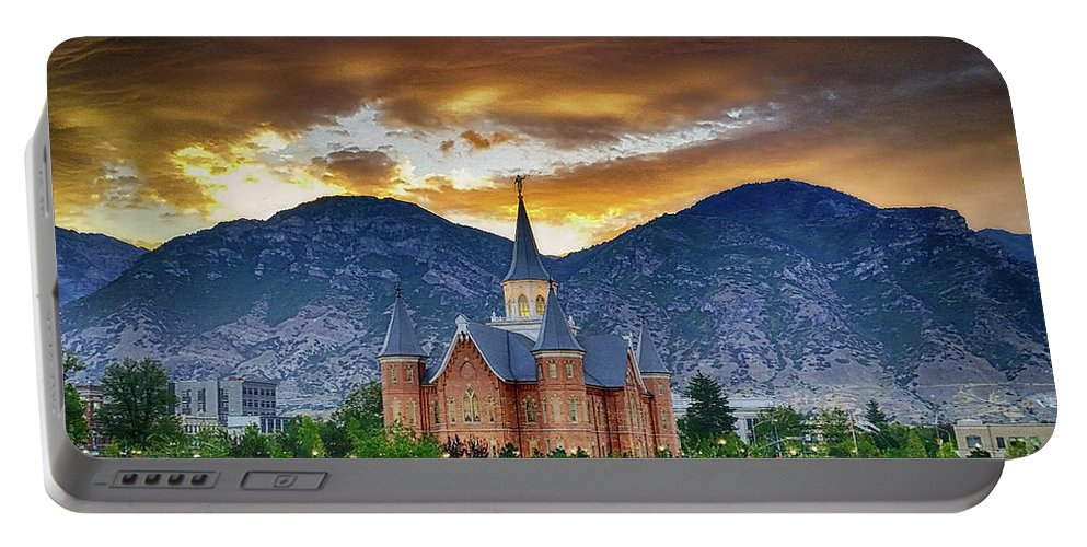 Provo Portable Battery Charger featuring the photograph Beauty For Ashes by Joe Haynie
