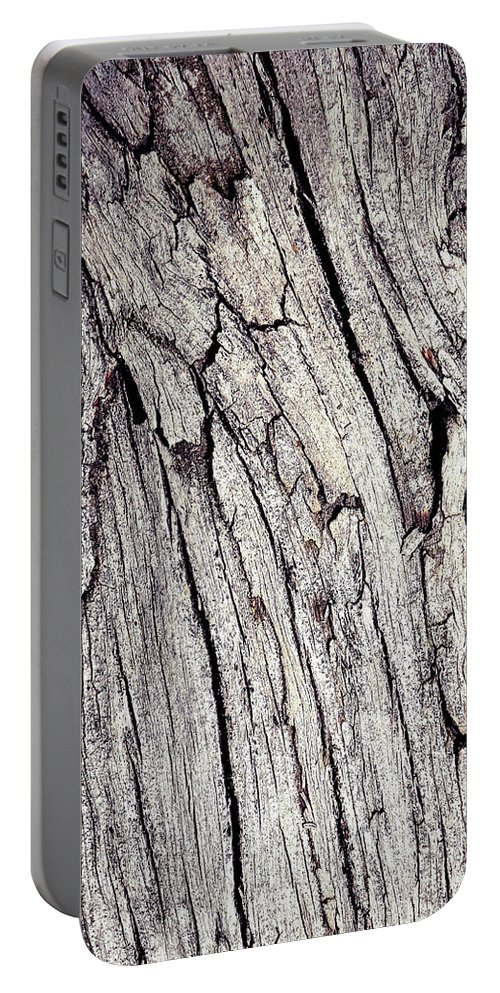 Background Portable Battery Charger featuring the photograph Beauty In The Cracks Of Old Wood by Jozef Jankola