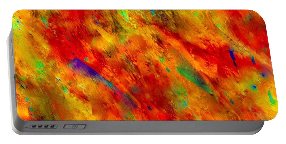Abstract Portable Battery Charger featuring the painting Beauty Of Real Love by Catalina Walker
