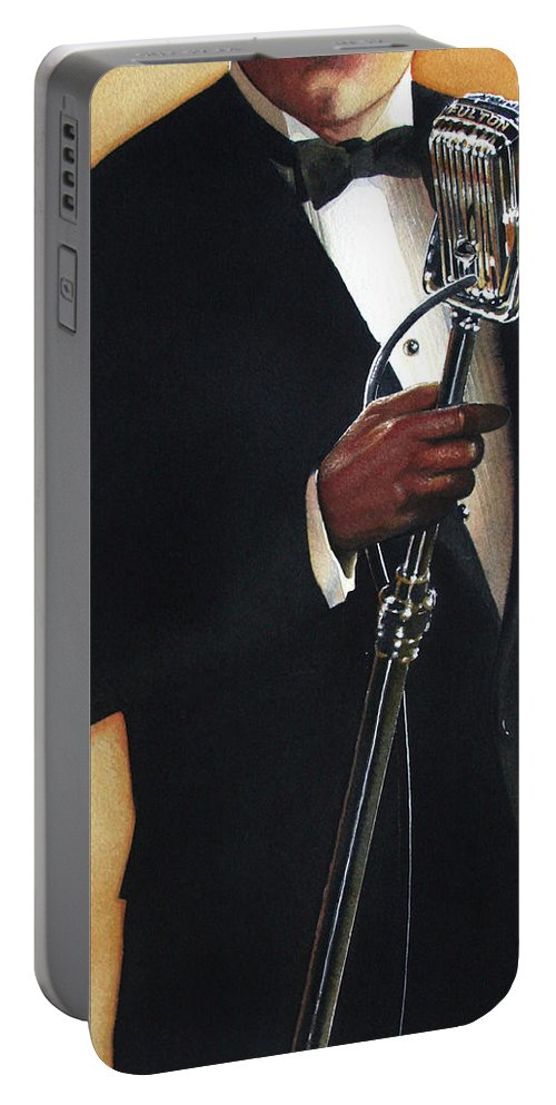 Singer Portable Battery Charger featuring the painting Becoming A Legend by Denny Bond