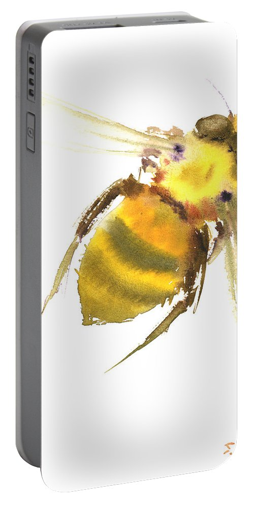Bee Portable Battery Charger featuring the painting Bee by Suren Nersisyan