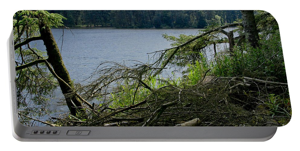 Beecraigs Portable Battery Charger featuring the photograph Beecraigs Loch. by Elena Perelman