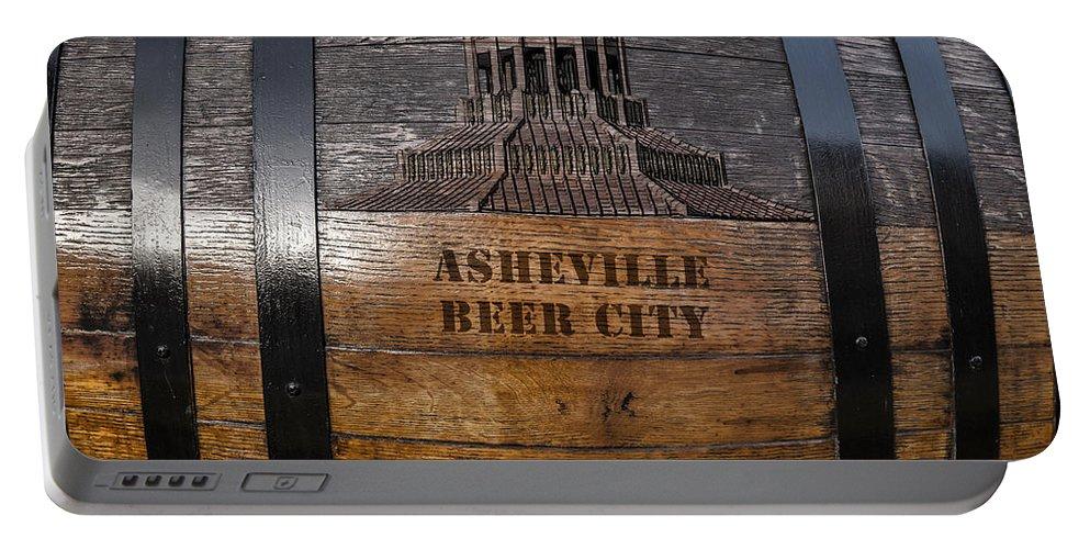 Beer Portable Battery Charger featuring the digital art Beer Barrel City by John Haldane