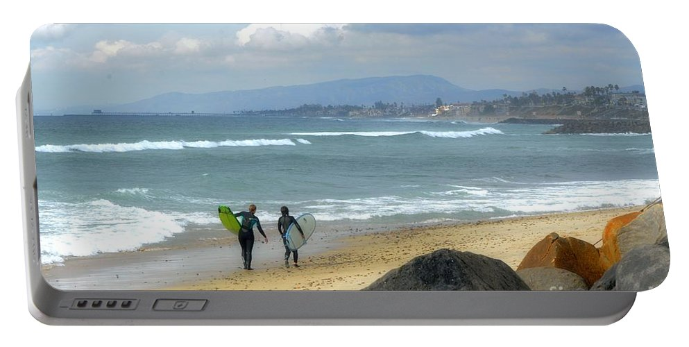 Seascape Portable Battery Charger featuring the photograph Before Rain by Luv Photography