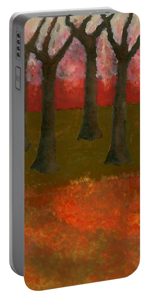 Colour Portable Battery Charger featuring the painting Before Spring by Wojtek Kowalski