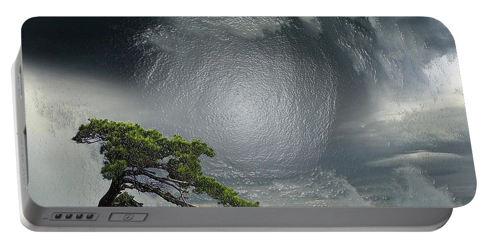 Landscape Portable Battery Charger featuring the photograph Before Thunderstorm by Scott Mendell